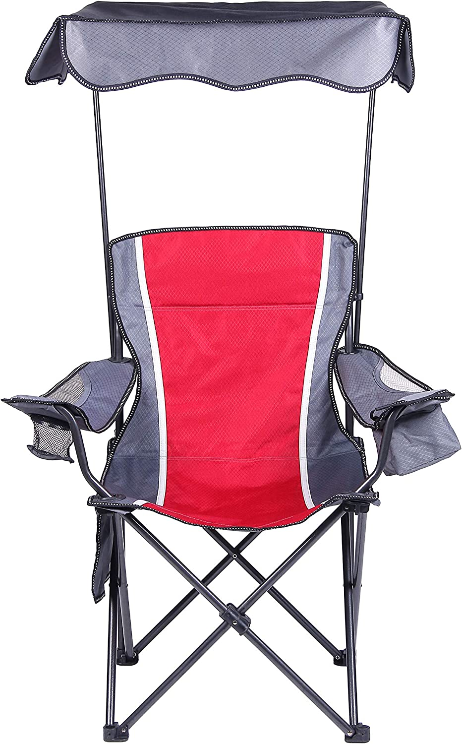 Camp Field Portable Folding Chair with Arm Rest Cup Holder and Carrying and Storage Bag