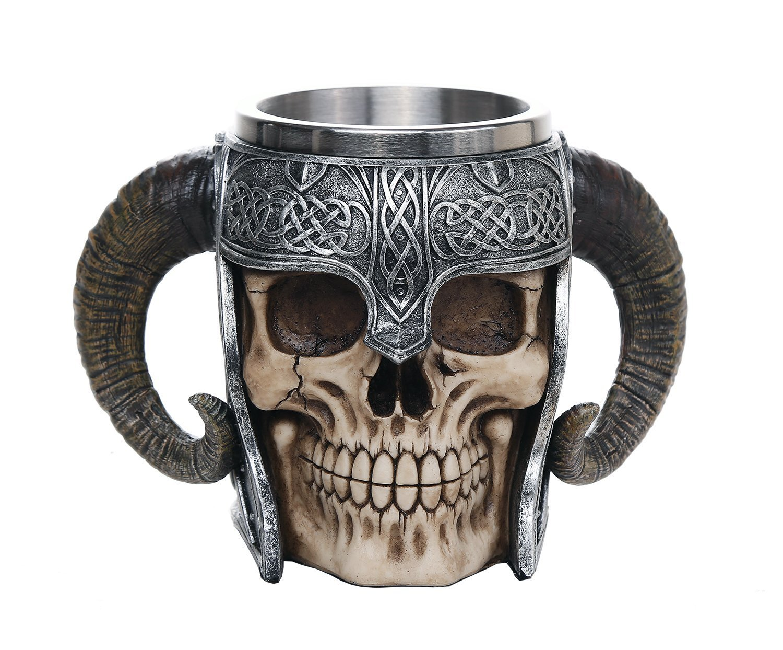 Viking Skull of Valhalla Warrior Mug Tankard 13oz Pacific Trading SYNCHKG121136