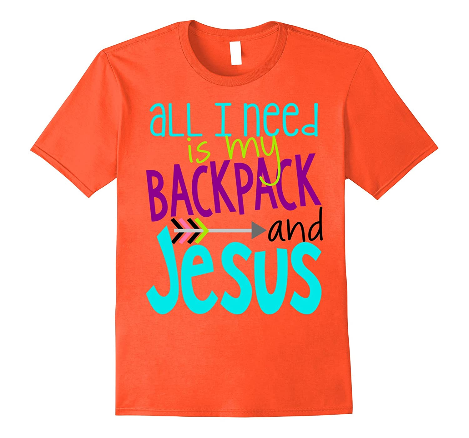 1st Day of School Shirt All I Need Is Backpack and Jesus Kid-TJ