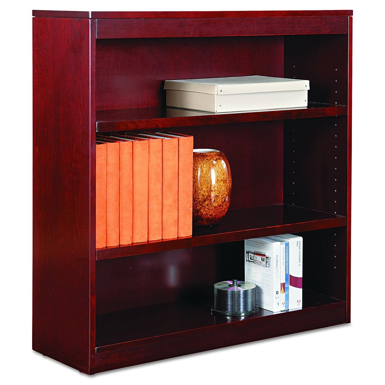 alera bcs my square corner wood veneer bookcase