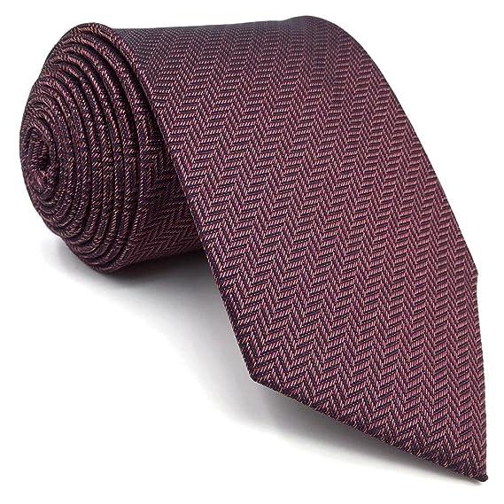 shlax&wing Color Sólido Burgundy Morado Ties For Men Seda Necktie Set Traje de negocios Boda 1JO5QJuyI