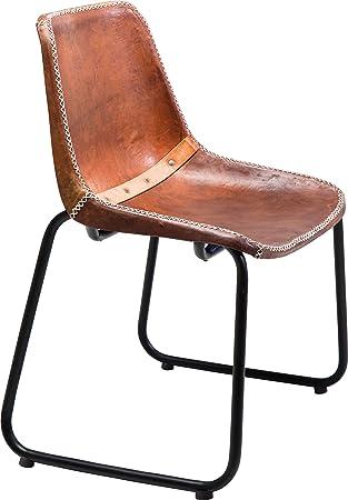 Kare Chaise Cuir Vintage Marron