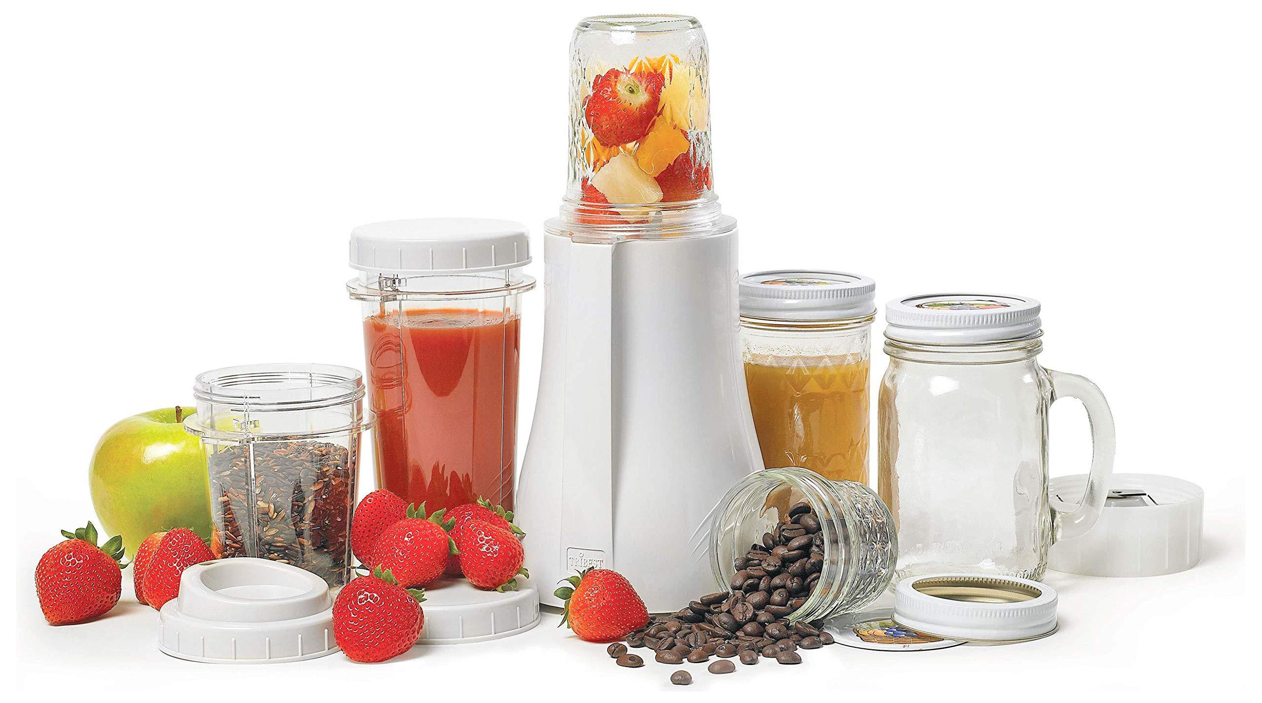 Tribest Single-Serving Mason Jar Personal Blender
