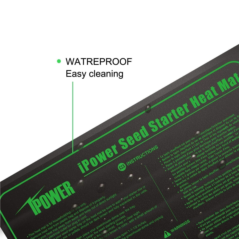 iPower GLHTMTLX2 2-Pack Durable Waterproof Seedling 48'' x 20'' Warm Hydroponic Heating Pad MET Standard, Black by iPower (Image #5)