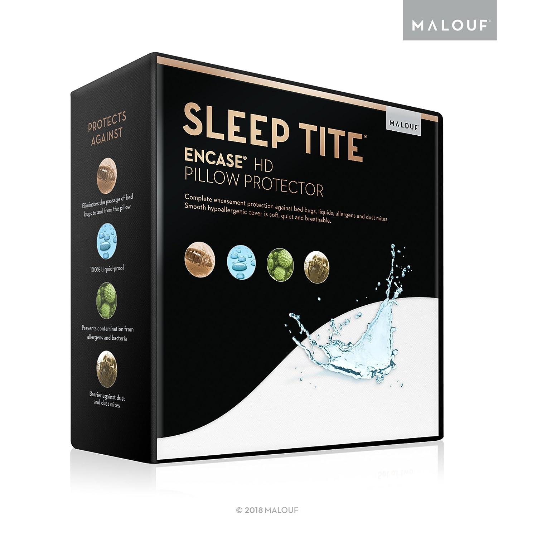 MALOUF Sleep Tite Encase Lab Certified Bed Bug Proof Pillow Protector, Hypoallergenic, 100-Percent Waterproof, Standard, Set of 2 CVB Inc SL0PSTPE