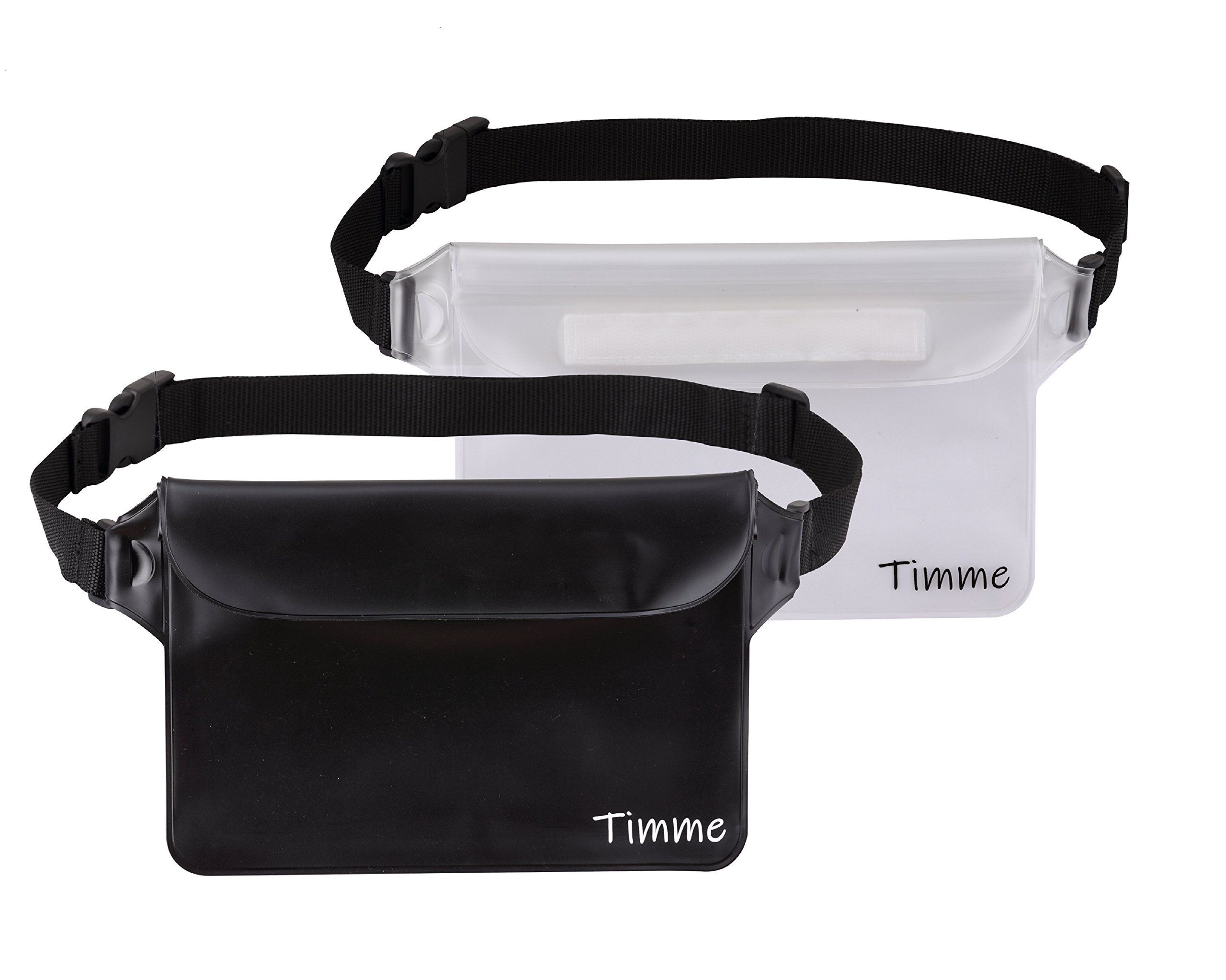 Timme Waterproof Pouch Waist Shoulder Strap | Perfect at Boating Fishing Kayaking Swimming Running Beach Water Sports (2 Pack)