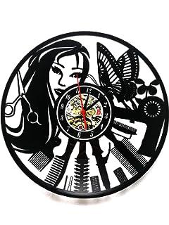 Meet Beauty – Reloj de Pared de Vinilo, Ideal para peluquería, Peluquería, Peluquería