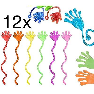 12x Party bag pieza elástica sustancia viscosa / Caucho chisme mano / embroma favores del cumpleaños Encáustica, para niños y niñas / Cumpleaños infantiles / artículos Fiesta / broma por TK Grupo: Juguetes y juegos