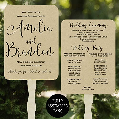 Amazon Wedding Program Fans