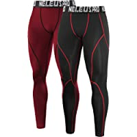 Neleus Men's 2 Pack Compression Pants Workout Running Tights Leggings