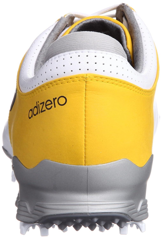 674003b2081089 Adidas Adizero Tour Golf Shoes White Yellow UK 10 W  Amazon.co.uk  Sports    Outdoors