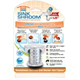 SinkShroom The Revolutionary Sink Drain Protector Hair Catcher/Strainer/Snare, Clear