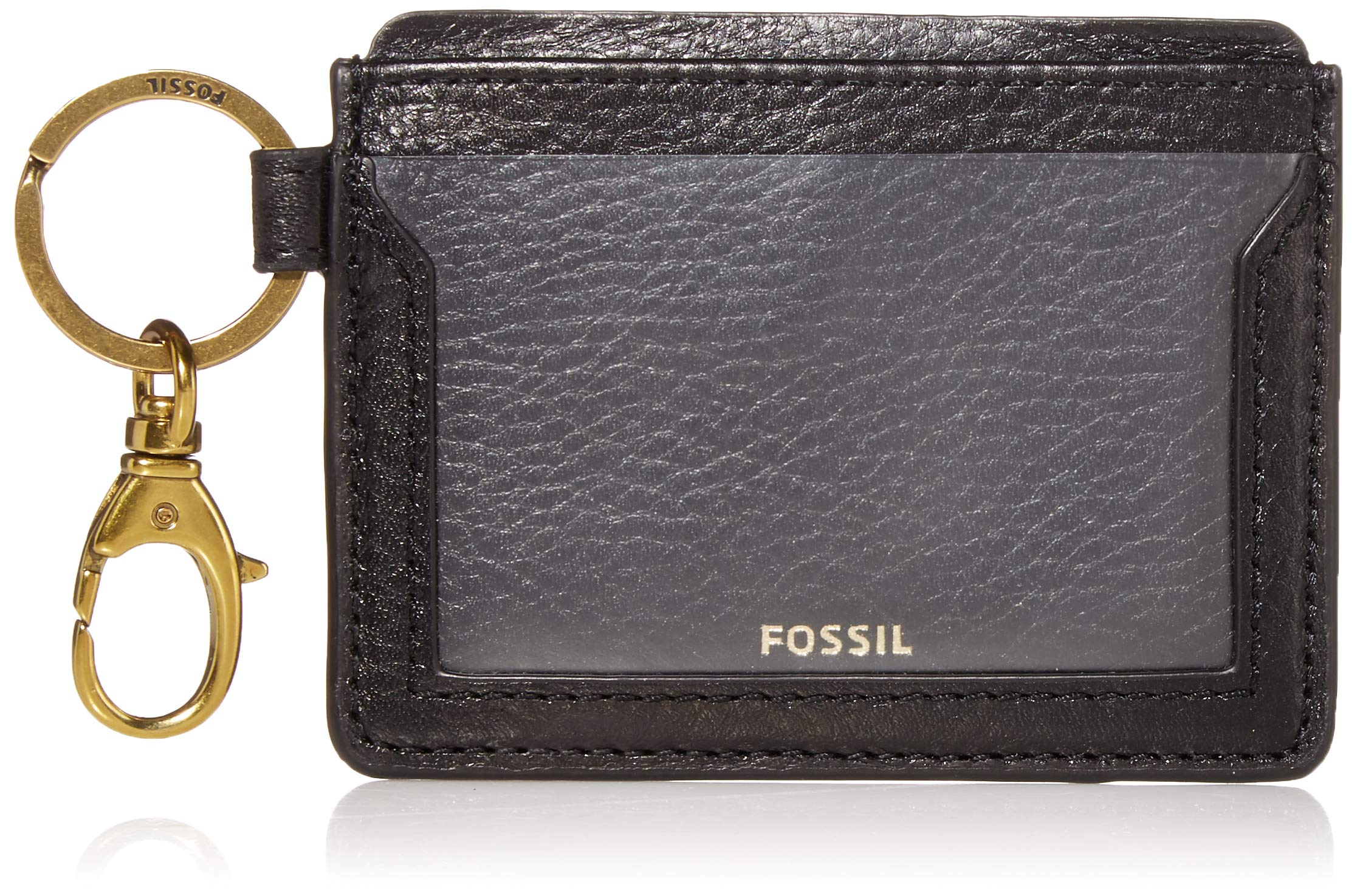 Fossil Women's Lee Leather Card Case Wallet With Keychain
