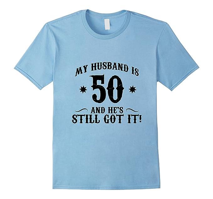 Mens 50th Birthday Shirt My Husband Is 50 Funny Tee 2XL Baby