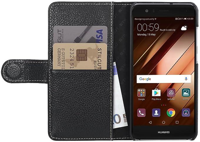 1 opinioni per StilGut Talis Case con tasca per carte , custodia in pelle cover per Huawei P10