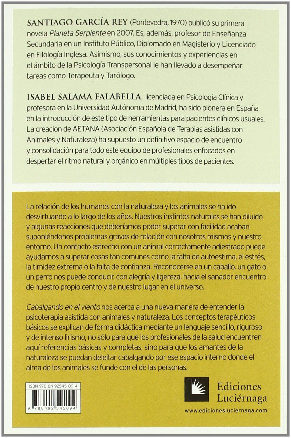 Cabalgando en el viento: La ciencia-arte de la psicoterapia asistida con animales y naturaleza PREVENIR Y SANAR: Amazon.es: Garcia Rey Santiago: Libros