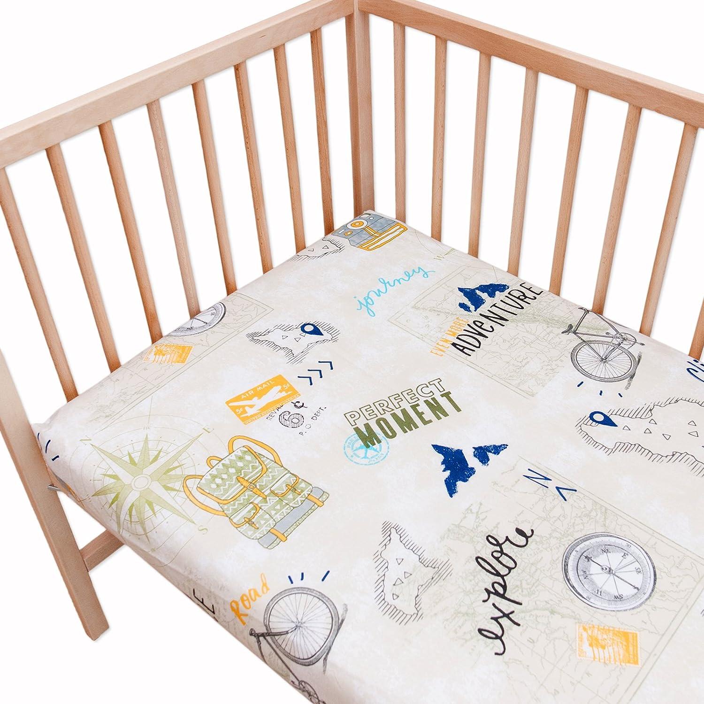 Le voyage (Journey) Lot de 2 draps housse Pati'Chou pour lit bébé 60x120 cm SoulBedroom