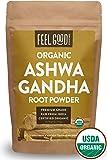 Organic Ashwagandha Root Powder - 16oz Resealable Bag (1lb) - 100% Raw From India - by Feel Good Organics