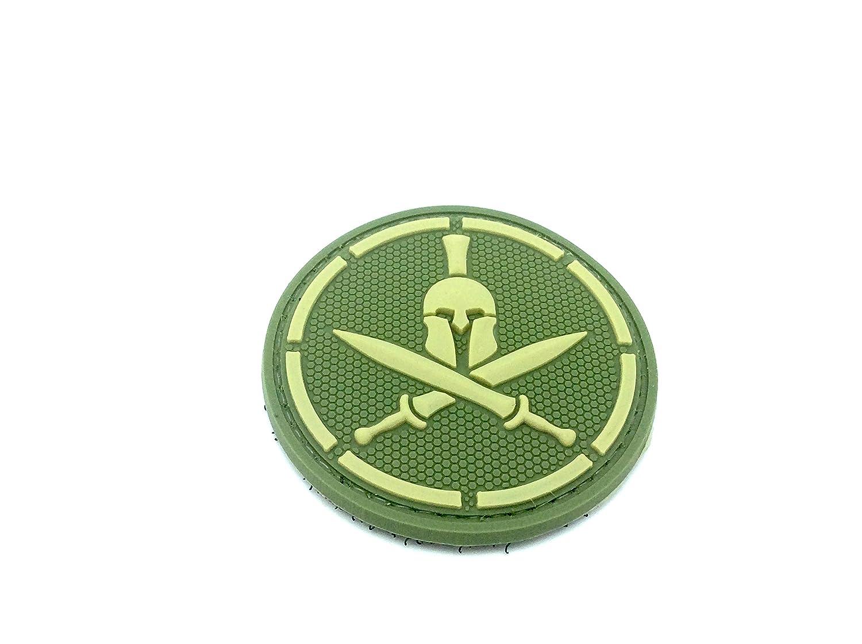 Spartan Verde Espada Cosplay Velcro PVC Parche Patch Nation