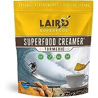 Laird Superfood Coffee Creamer Vegan Turmeric - Vegan Non-Dairy Golden Milk Coconut Creamer, 8oz Bag