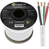 GearIT Pro Series 16 Gauge 4-Conductor Speaker Wire (100 Feet / 30 Meters) 16 AWG OFC (99.9% Oxygen Free Copper) Speaker…