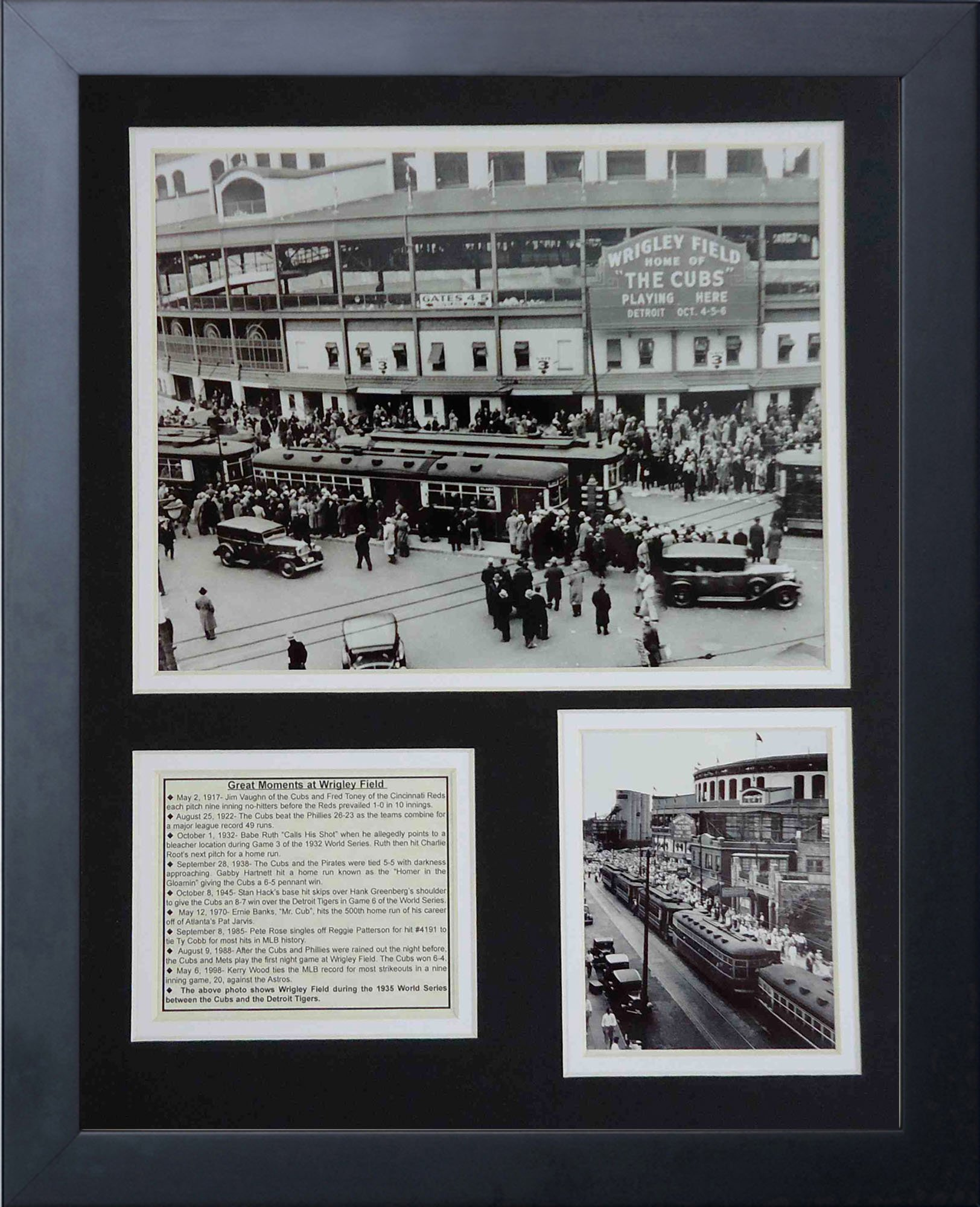 Legends Never Die Wrigley Field 1935 Framed Photo Collage, 11x14-Inch