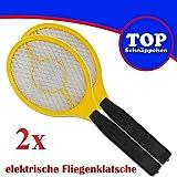 Trango Conjunto de 2 Flyswatter 2TG-FL2004 I Gnat catcher I Fruit fly catcher: funciona con 2 pilas AA de 1,5 voltios.