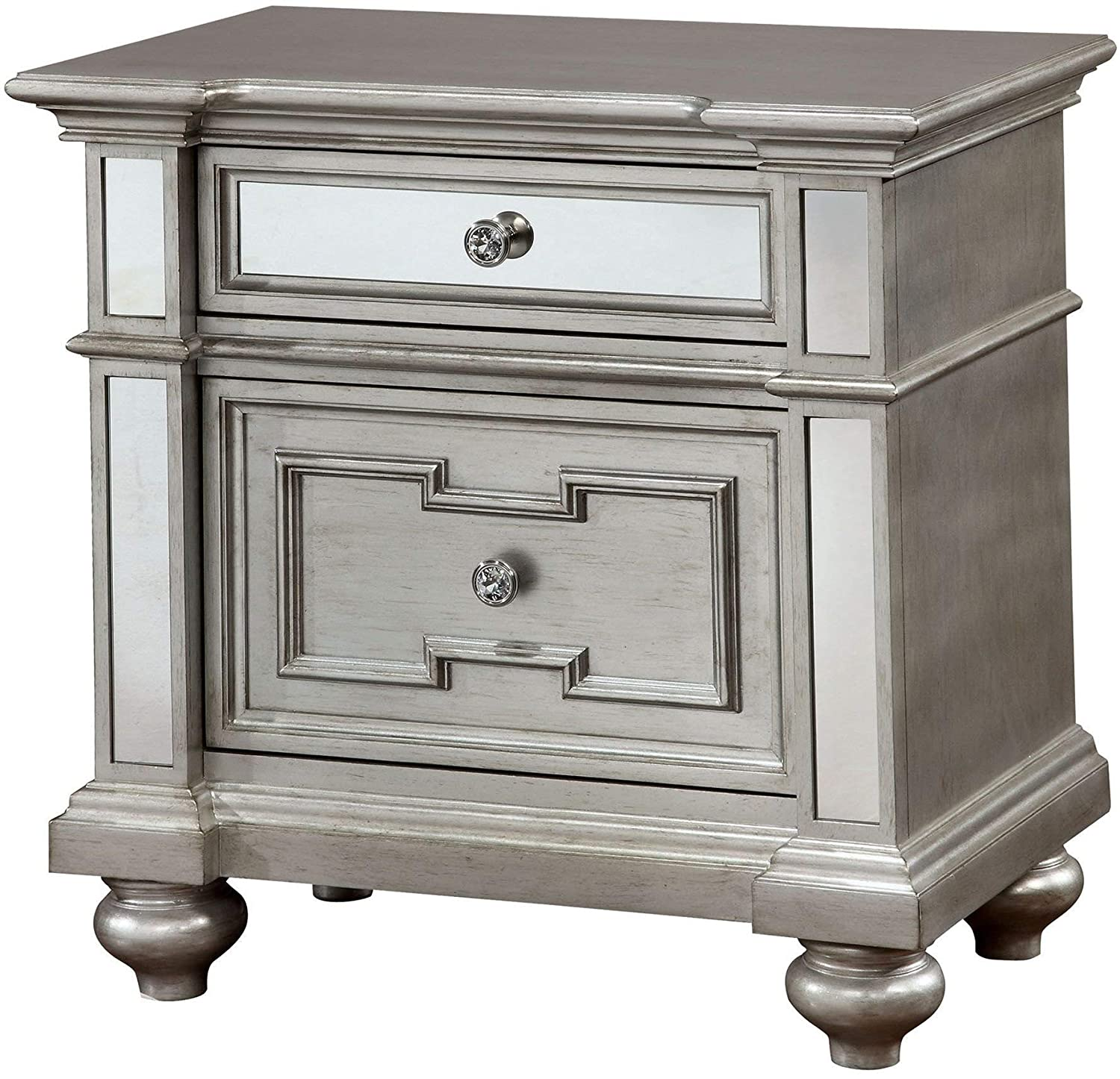 WILLIAMS HOME Furnishing CM7673N Salamanca Nightstands, Silver