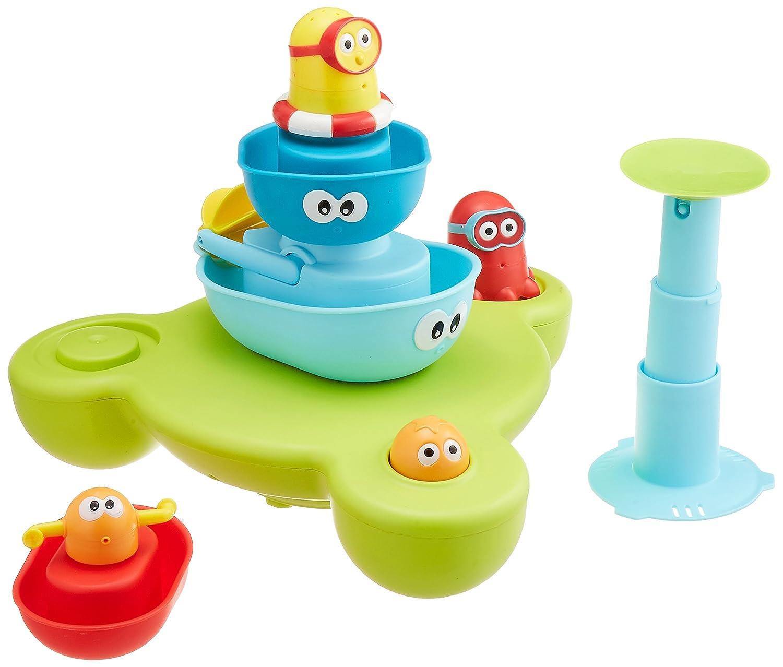 Amazon.com : Bath Toy - Stack N\' Spray Bathtub Fountain - 7 Unique ...