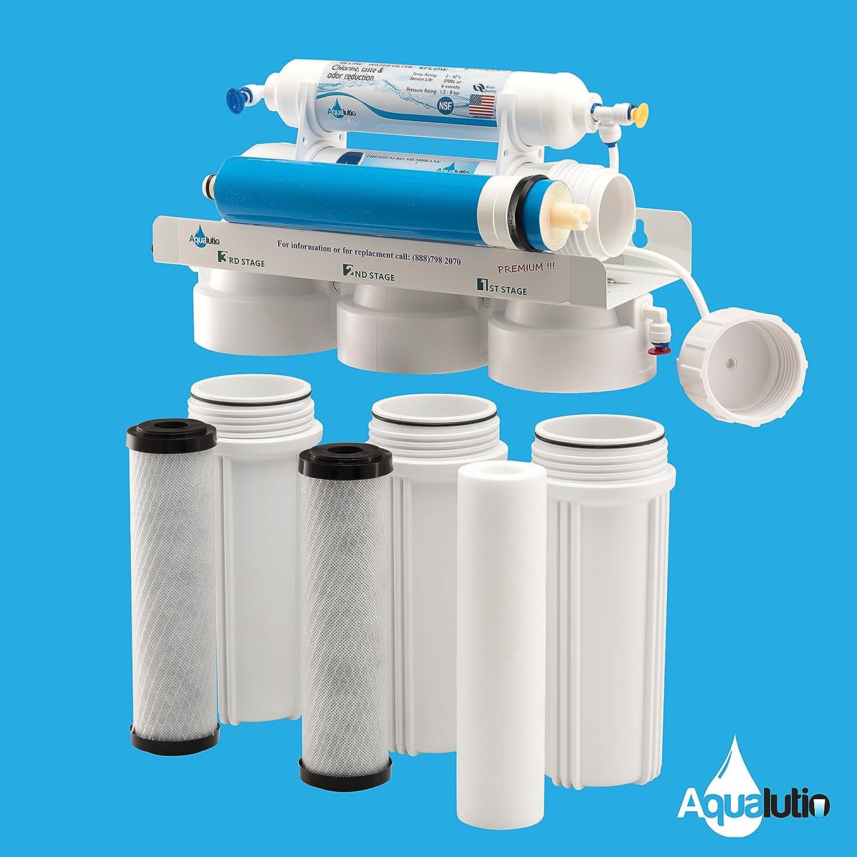 Amazon.com: AquaLutio, Premium 5-Stage Reverse Osmosis Filtration ...