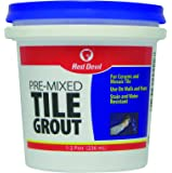 Red Devil 0422 Pre-Mixed Tile Grout (1/2 Pint), White