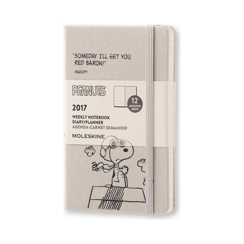 Moleskine DPE12WN2Y17 - Agenda semanal 18 meses, diseño Carlitos y Snoopy, edición limitada, pocket 9 x 14