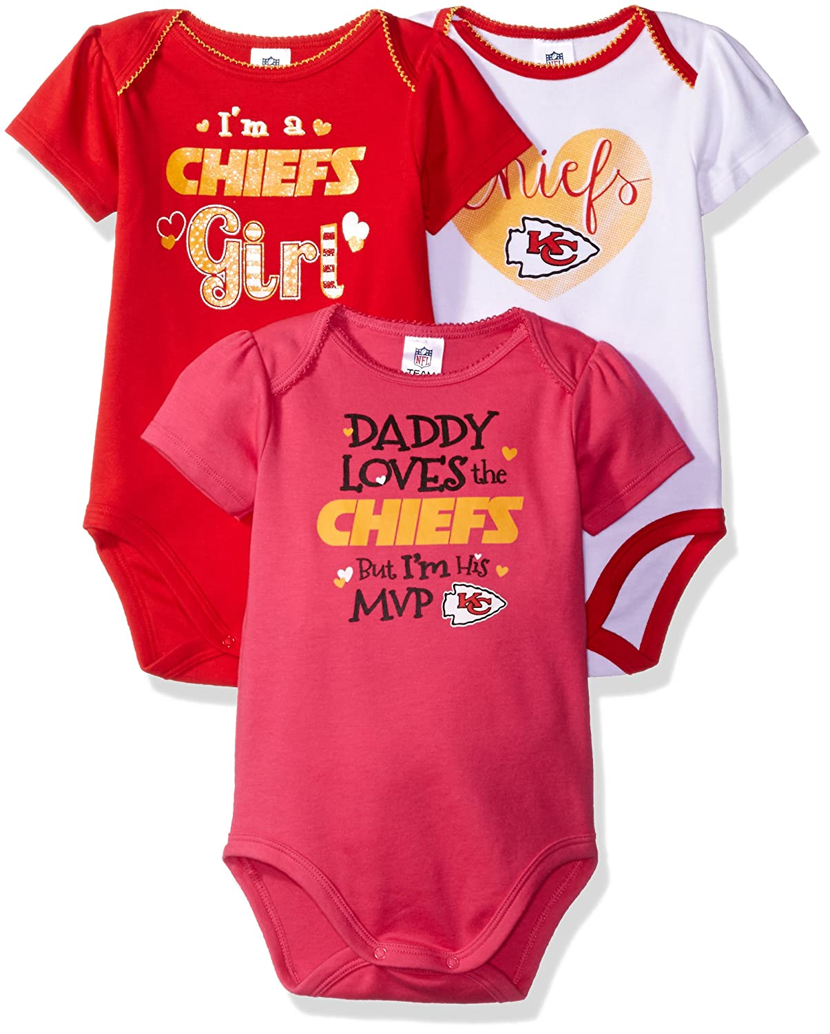 Daddy Loves 3 Pack Bodysuit Gerber - Sports Licensed 921423160