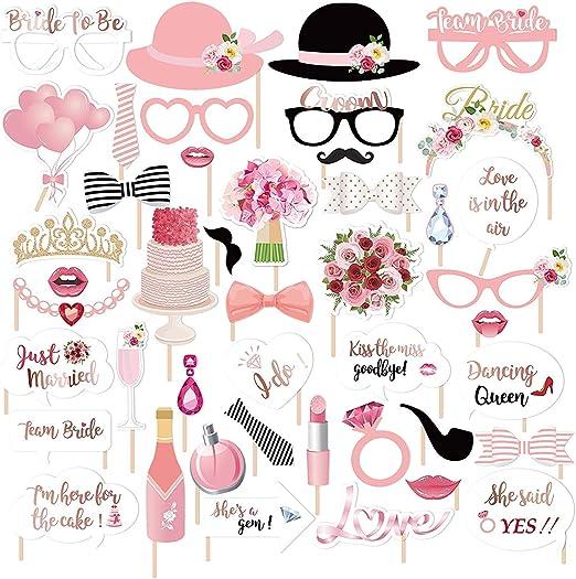 Gudotra Photo Booth Accesorios para Bigotes Labios Corbatas Gafas ...