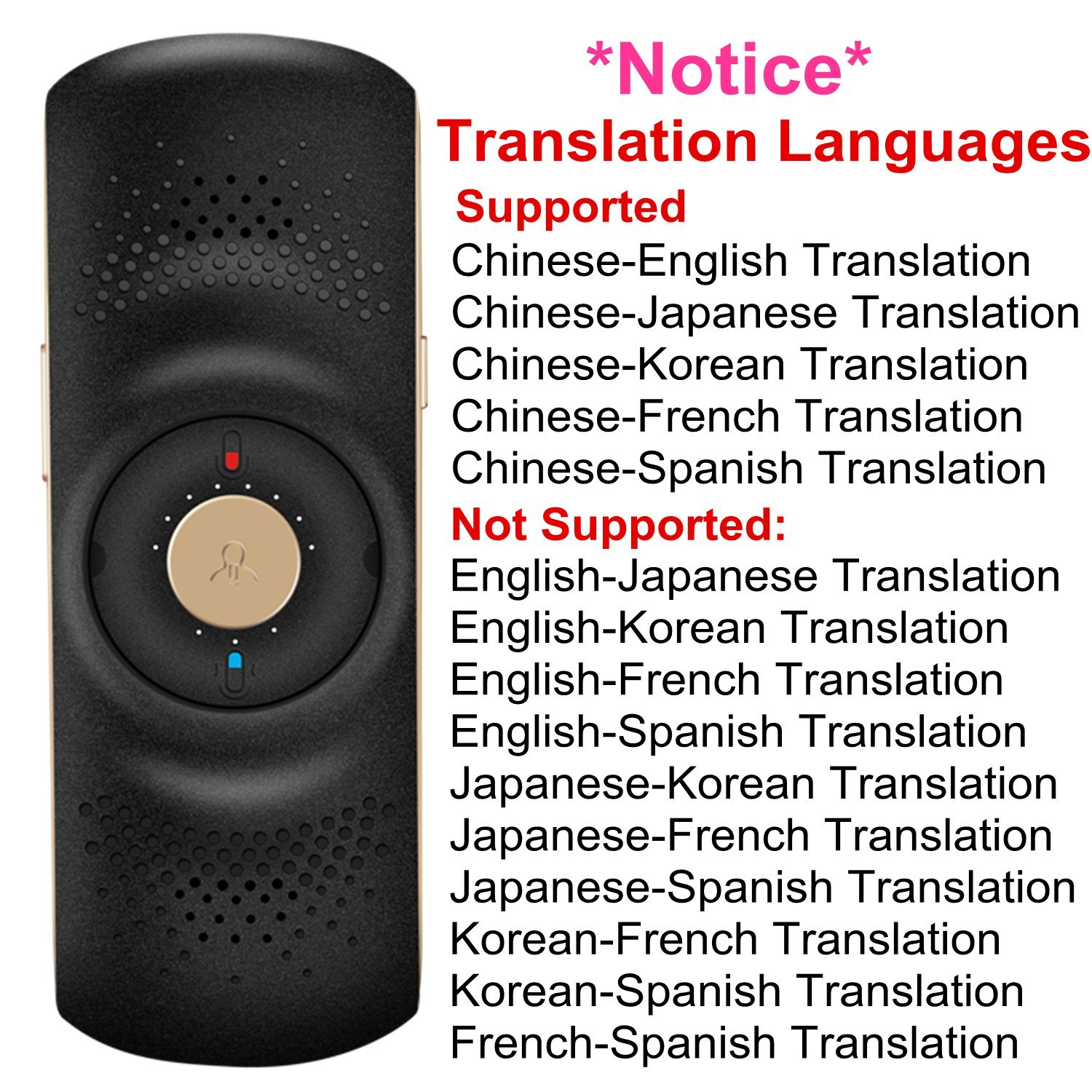 iflytek easy trans 600 voice translator electronic foreign language translation chinese english french japanese spanish korean simultaneous interpreter for travel abroad black amazon in office products iflytek easy trans 600 voice translator