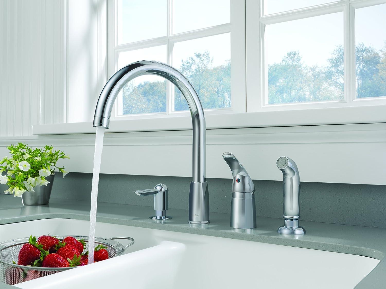 Peerless P88900LF Waterfall Single Handle Widespread Kitchen Faucet ...