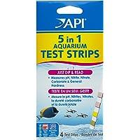 API 5-in-1 Test Strips Freshwater & Saltwater Aquarium Test Strips 4Count Box