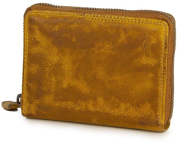 Ven Tomy - Cartera monedero para mujer y hombre de cuero, pequeño vintage Amarillo: Amazon.es: Equipaje