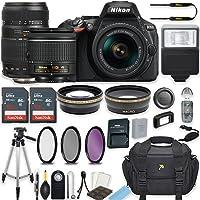 Nikon D5600 24.2 MP DSLR Camera (Black) w/AF-P DX NIKKOR 18-55mm f/3.5-5.6G VR Lens & Tamron 70-300mm f/4-5.6 Di LD Lens Bundle includes 64GB Memory + Filters + Deluxe Bag + Accessories