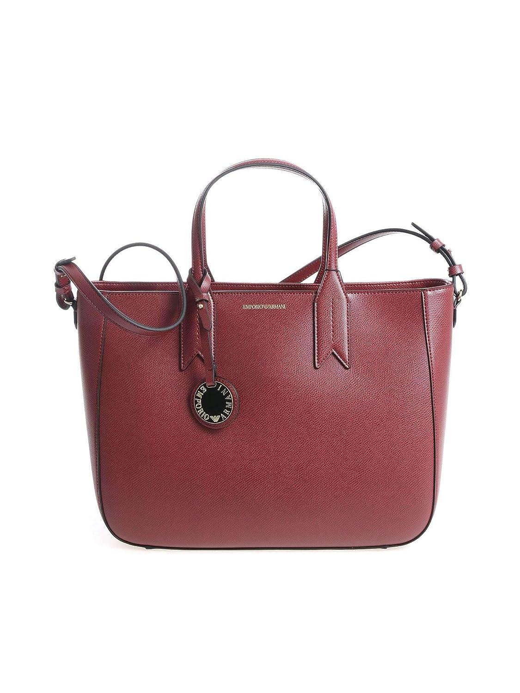 0fcacba2fb12 Emporio Armani Frida Black Textured Tote Bag