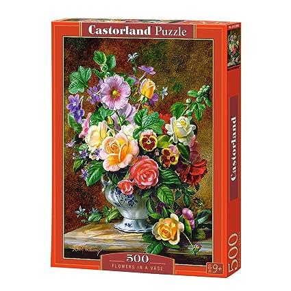 Amazon Castorland Flowers In A Vase Jigsaw Puzzle 500 Piece