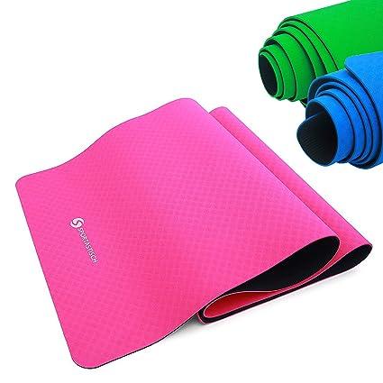 Sportastisch Top¹ Esterilla de Yoga Yoga Star (60x181cm)   Colchoneta de Gimnasia Grande y Antideslizante Gracias diseño de 2 Capas   Ideal para ...