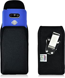 product image for Turtleback Belt Clip Case Made for LG G5 Black Vertical Holster Nylon Pouch with Heavy Duty Rotating Belt Clip Made in USA