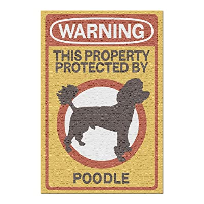 Poodle - Warning (Premium 500 Piece Jigsaw Puzzle for Adults, 13x19, Made in USA!): Toys & Games