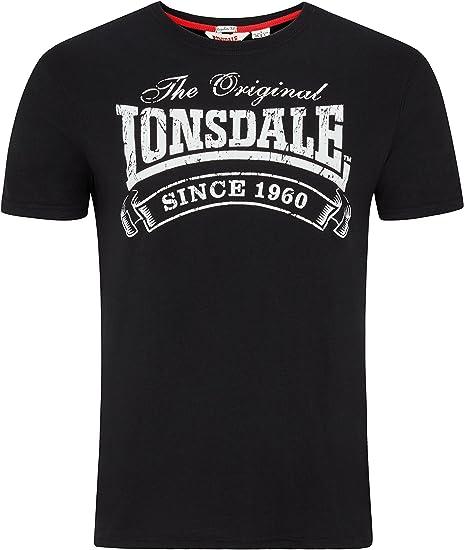 Lonsdale T Shirt da Uomo Spalline Camicia Martock: Amazon.it