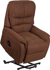 Flash Furniture HERCULES - Brown Microfiber Power Lift Recliner
