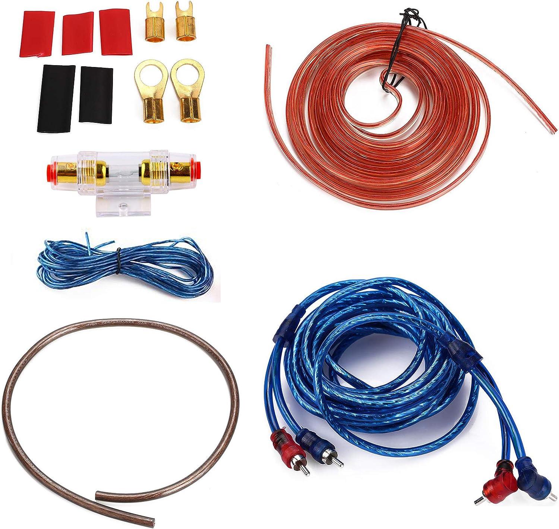 amazon.com: iztoss 1500w 8ga car audio subwoofer amplifier installation kit amp  wiring fuse holder wire cable kit  amazon.com