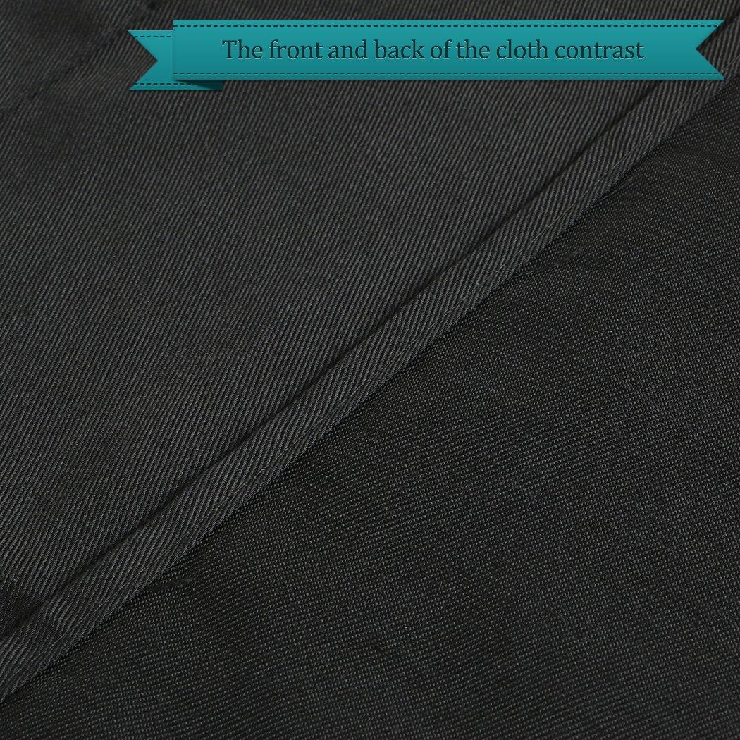 LUVODI Delantal de Cintura Cocina Delantal de Camarero Corto Delantal Impermeable con 2 Bolsillos para Cafeter/ía Restaurante Bistro Bar