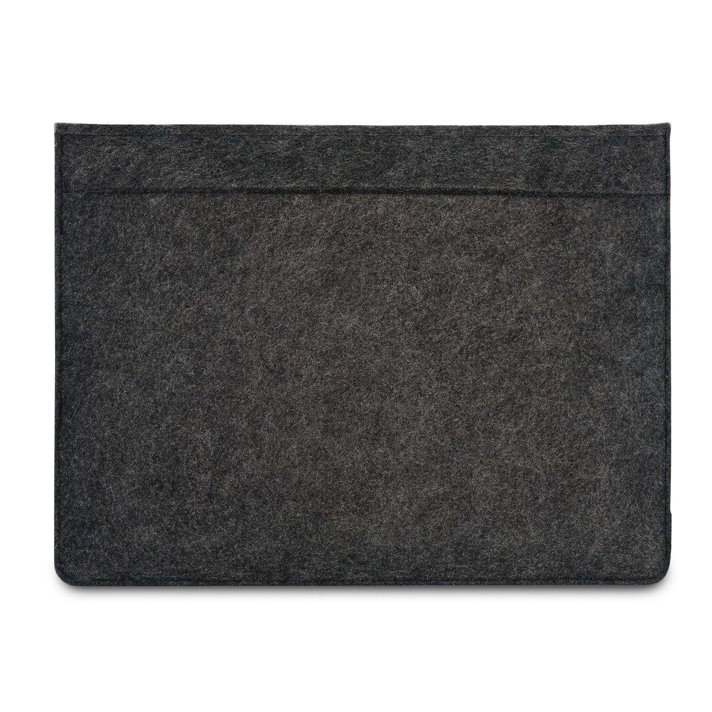 Morbida Protezione Dispositivo Cover Apple Samsung Acer e altri Super Borsa Notebook Ultrabook accessori antracite con pelle marrone Custodia KANVASA Feltro per Portatile 14 e MacBook Pro 15