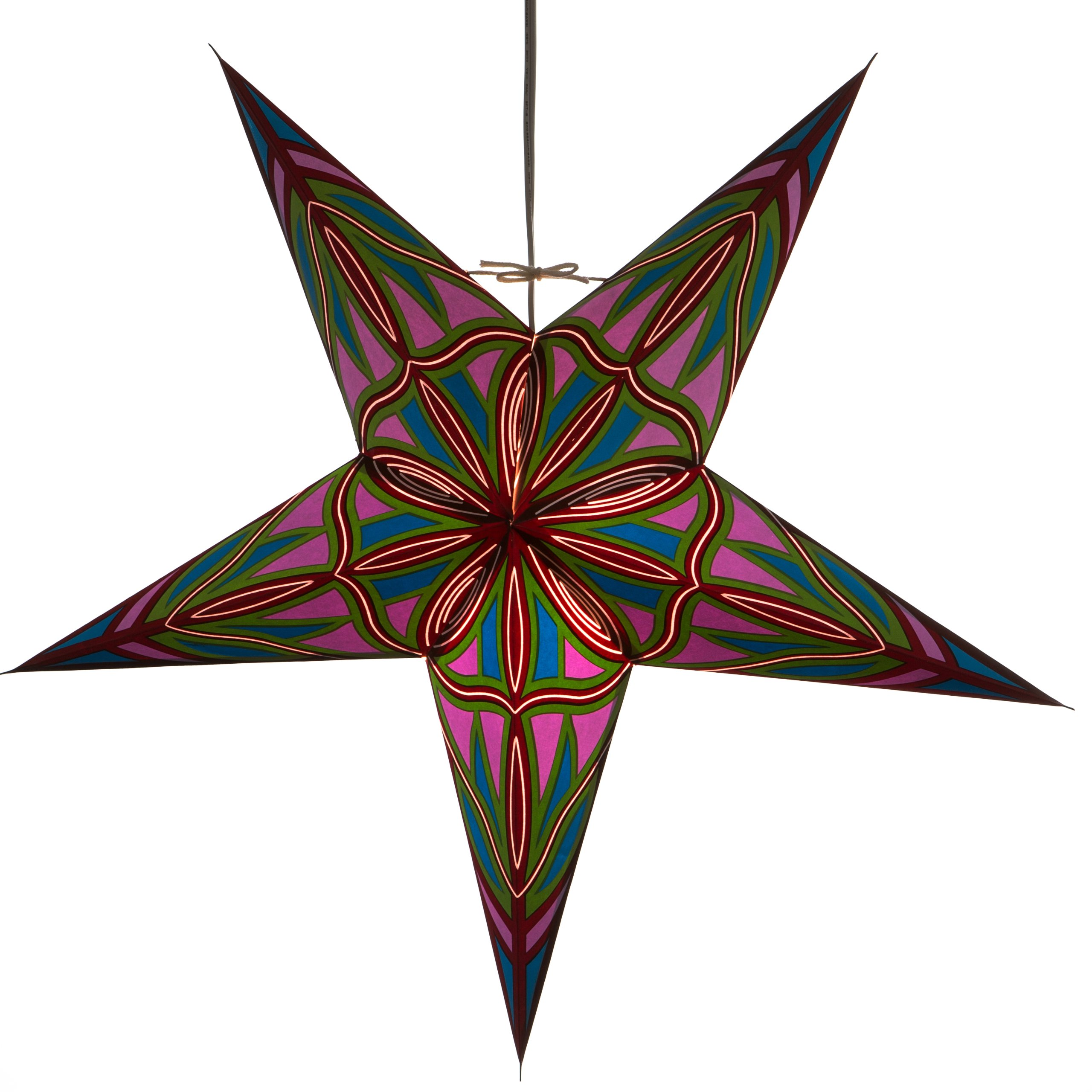 Serendipity Paper Star Lantern with 12 Foot Power Cord Included